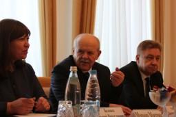 Состоялась рабочая встреча Председателя Комитета госконтроля Леонида Анфимова и Посла Словакии в Беларуси Йозефа Мигаша