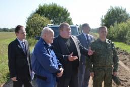 Председатель Комитета госконтроля Леонид Анфимов ознакомился с ходом уборки урожая в Витебской области