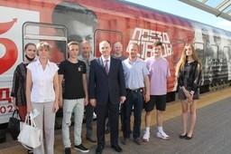Сотрудники Комитета государственного контроля Витебской области 16 и 17 июля 2021 года посетили экспозицию уникального передвижного музея «Поезд Победы» в г.Витебске