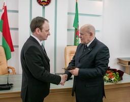 Председатель Комитета государственного контроля Республики Беларусь Анфимов Л.В. представил новое руководство Комитета государственного контроля Витебской области