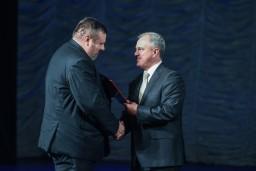 В честь 100-летия государственного контроля Беларуси лучшие работники и ветераны Комитета государственного контроля Гомельской области удостоены почетных наград