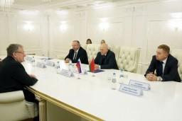 Рабочая встреча Председателя Комитета госконтроля Беларуси Леонида Анфимова и Председателя Счетной палаты России Алексея Кудрина